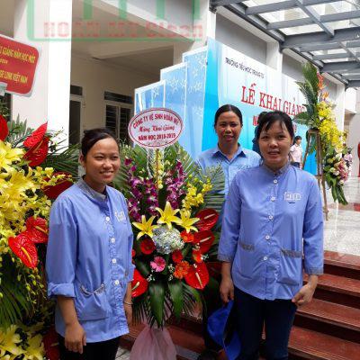 Công ty Hoàn Mỹ Clean tham dự lễ khai giảng tại trường tiểu học
